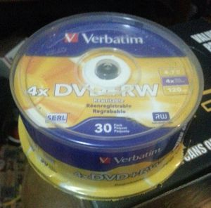 30 Pack Brand New Verbatim DVD+RW Rewritable 4x 4.7 gb 120 min for Sale in Akron, OH