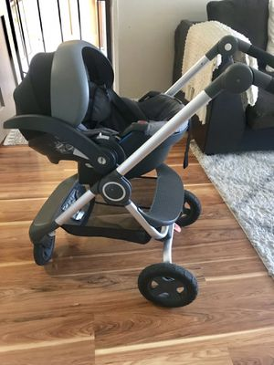 Stokke Stroller & Stokke Car seat with Base Bundle for Sale in Richmond, CA
