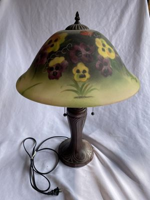 Pansy flowered glass lamp for Sale in Lynnwood, WA