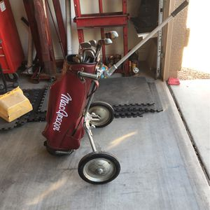 Golf Clubs and Old Golf Cart for Sale in Litchfield Park, AZ