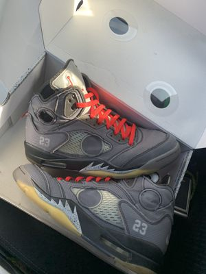 off white virgil abloh jordan 5 size 12 for Sale in Beverly Hills, CA