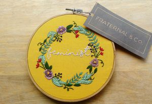 """5"""" handmade embroidery hoopart for Sale in Gresham, OR"""
