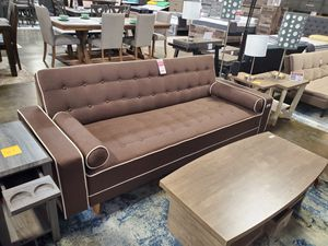 SPL Sofa Bed / Futon with Pillows, Brown for Sale in Santa Fe Springs, CA