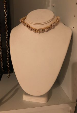Charming Charlie choker with pearl and diamond for Sale in Houston, TX