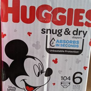 Huggies Snug Dry Size 6 (104 Counts) for Sale in Long Beach, CA