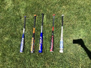5 Baseball Bats (3 for $30 or 5 $40 ) for Sale in Berlin, NJ