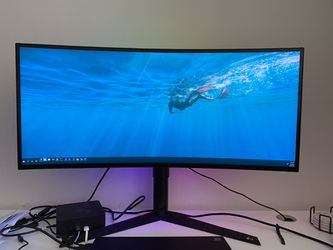 Like New LG 34GK950G Nvidia Free sync monitor for Sale in Seattle,  WA