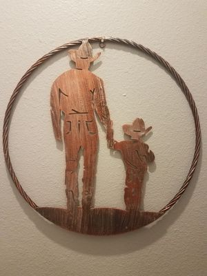 20 inch Cowboy Father & Son Metal Ring for Sale in Abilene, TX