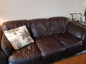 Faux Leather Sofa & Loveseat $100. OBO for Sale in Palm Bay, FL