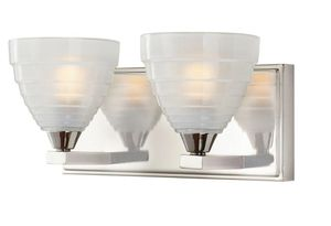 Z GALLERIE INSPIRED 2-LIGHT BATHROOM VANITY CHROME LIGHT FIXTURE WITH GLASS SHADES for Sale in Houston, TX