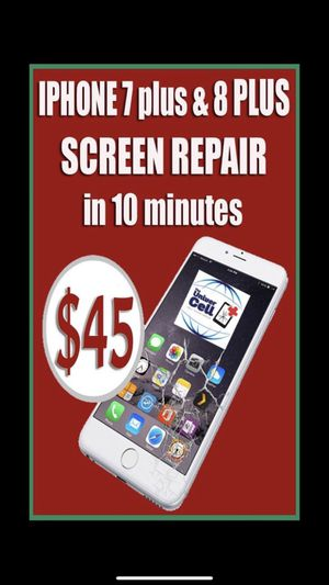 We change screen with lcd in 10 minutes ! $45 for iphone 7 plus and 8 plus , we're on 4941 E Busch blvd 170, 33617 for Sale in Tampa, FL