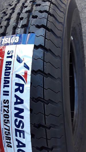 4) NEW TRAILER TIRES ST 205/75R14 installed ✔ for Sale in Los Angeles, CA