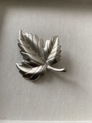 Vintage Tiffany & Co Silver Leaf Pin Brooch for Sale in Redlands, CA