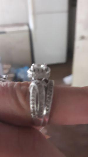 Vintage sterling silver cubic zirconia wedding set size 9 for Sale in Hawkins, TX