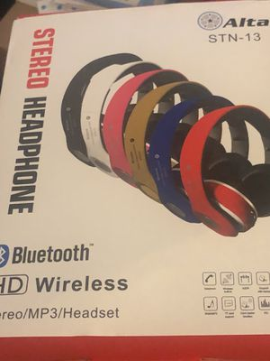 New brand stereo Bluetooth wireless hHd mp3 headset for Sale in Houston, TX