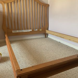 Girls Bed Frame And Bureau / Changing Table for Sale in Lowell, MA