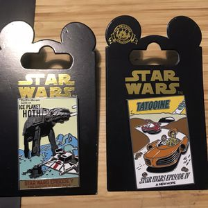 Star Wars Ice Planet Hoth Episode V & Tatooine Episode IV Disney Parks Pins for Sale in Sleepy Hollow, IL