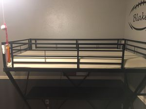 Kids twin loft bed with desk and mattress for Sale in Peoria, AZ