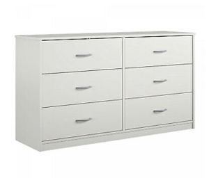 Classic 6 Drawer Dresser Furniture Bedroom Organizer Clothes Chest Drawers White for Sale in Keizer, OR
