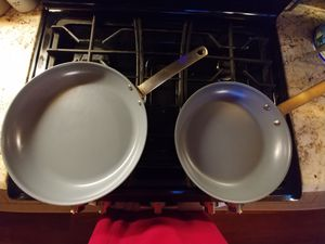 GREEN Pan set of two for Sale in Huntington Beach, CA
