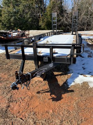 20ft heavy duty equipment trailer with ramps 8 Lug for Sale in Oklahoma City, OK