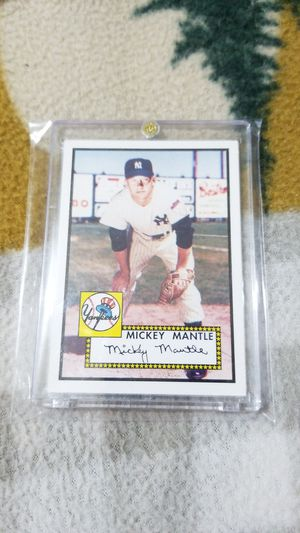 Baseball card- Mickey mantle 2006 rookie of the week for Sale in Roseburg, OR