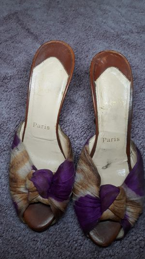 Christian Louboutin purple heels 38 1/2 for Sale in San Diego, CA
