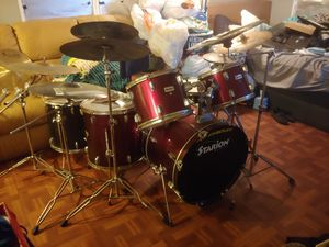 Killer drum set double pedal w/ extras for Sale in Tampa, FL