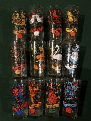 12 Days of Christmas glasses — collectibles for Sale in Fountain Inn, SC