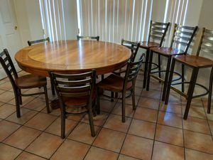 """Huge 59½"""" Diameter Kitchen Dining Table and Chairs for Sale in Phoenix, AZ"""