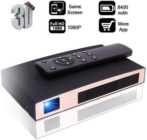 DLP Portable LED 3D Projector HD 8400mAh Rechargeable Battery Supports Smart Phone Android Multimedia Outdoor for Party/Business/Home for Sale in Ontario, CA