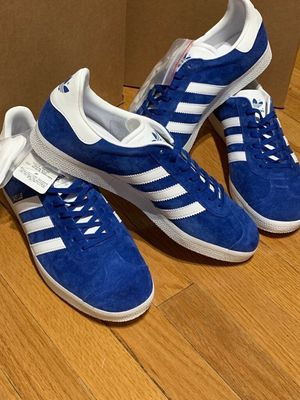 2 pairs of Blue Adidas Gazelle shoes for Sale in Chicago, IL
