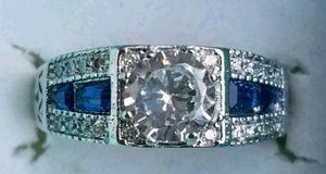 Luxury Sapphire And Lab Diamond ring for Sale in Baltimore, MD