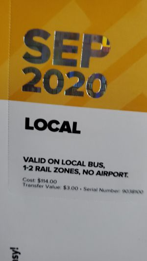 Sep 2020 bus pass for Sale in Denver, CO