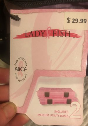 Lady Fish tackle box for Sale in Frederick, MD