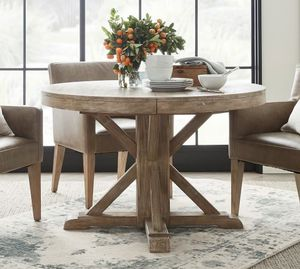 Pottery barn sea drift round table and counter stools for Sale in Valley Home, CA
