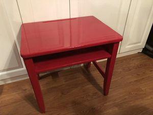 "Vintage kids school desk candy apple red 22"" tall, 23 1/2"" long, 18"" wide for Sale in Wesley Chapel, FL"