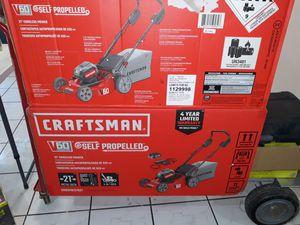Craftsman 60v self propelled lawn mower for Sale in San Antonio, TX
