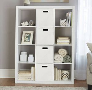 White storage organizer bookcase - New for Sale in Taylor, MI