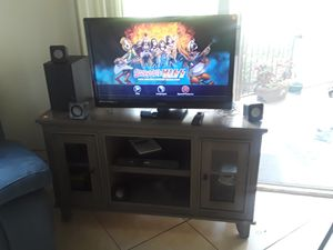 Magnavox television with Philips furniture and DVD with home theater all working. for Sale in Deerfield Beach, FL