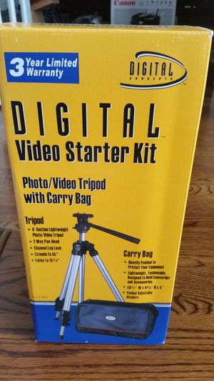 TRIPOD AND CARRY BAG FOR CAMERAS AND VIDEO RECORDERS for Sale in Leesburg, VA