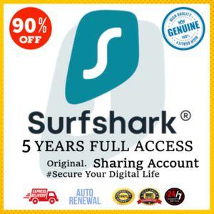 SARFSHARK VPN Premium Account 100% LEGIT + FULL WARRANTY + Auto Renewal for Sale in Raleigh, NC