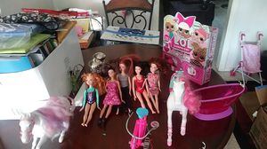 A hole lot of Barbies cars cambers and more for Sale in Chula Vista, CA
