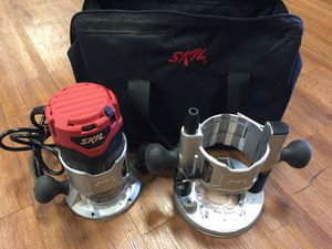 Router skill with fixed base and plunger base for Sale in Hamtramck, MI