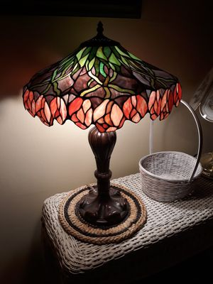 Tiffany antique stained glass lamp, hanging roses for Sale in Los Angeles, CA