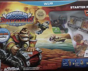 Skylanders superchargers wii u starter pack amiibo Nintendo for Sale in Fresno,  CA