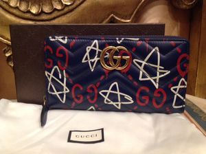 Gucci Blue Leather GG Ghost Print Wallet for Sale in San Fernando, CA