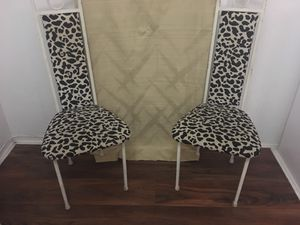 Two (2) animal-print iron steel chairs for Sale in Miami Beach, FL