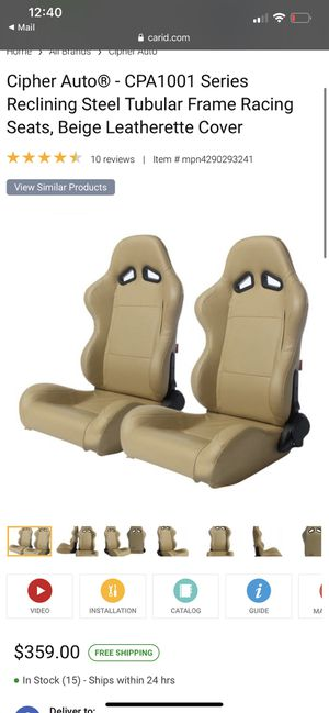 Ciper Auto Racing Seats for Sale in Endicott, NY