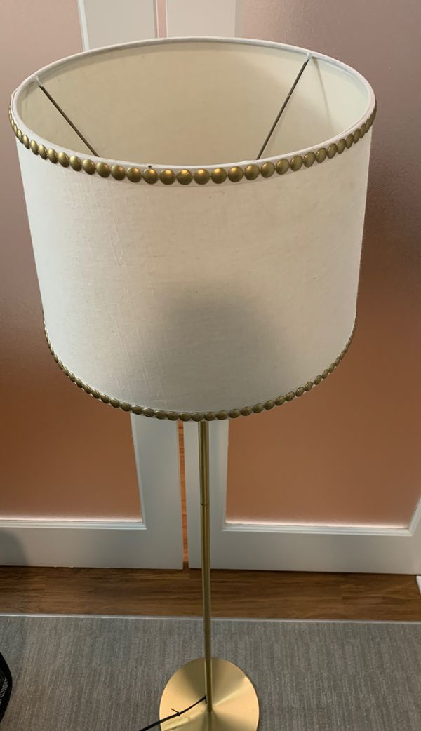 Gold Embellished ~5ft Lamp
